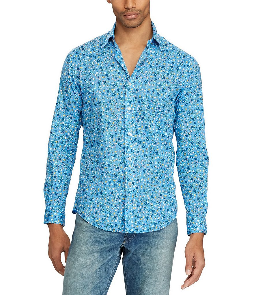 Polo Ralph Lauren Big & Tall Floral Poplin Long-Sleeve Woven Shirt