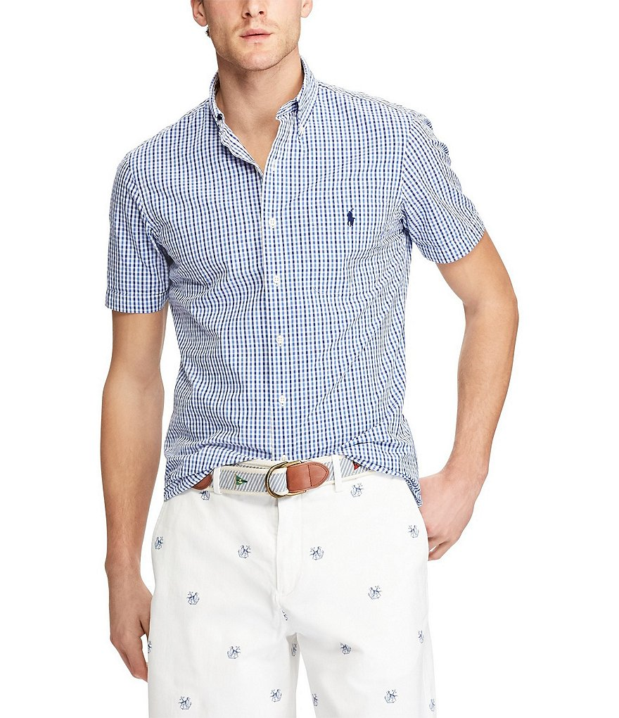Polo Ralph Lauren Big & Tall Gingham Seersucker Short-Sleeve Woven Shirt