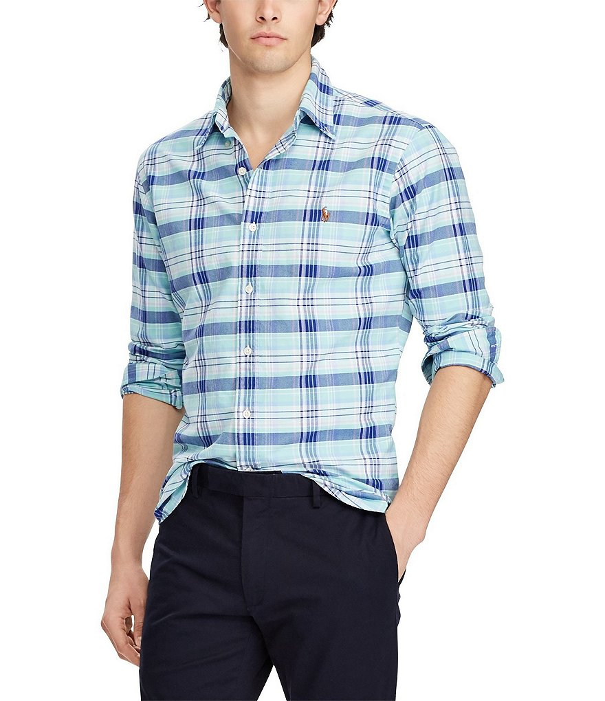 Polo Ralph Lauren Big & Tall Wide Plaid Oxford Long-Sleeve Woven Shirt