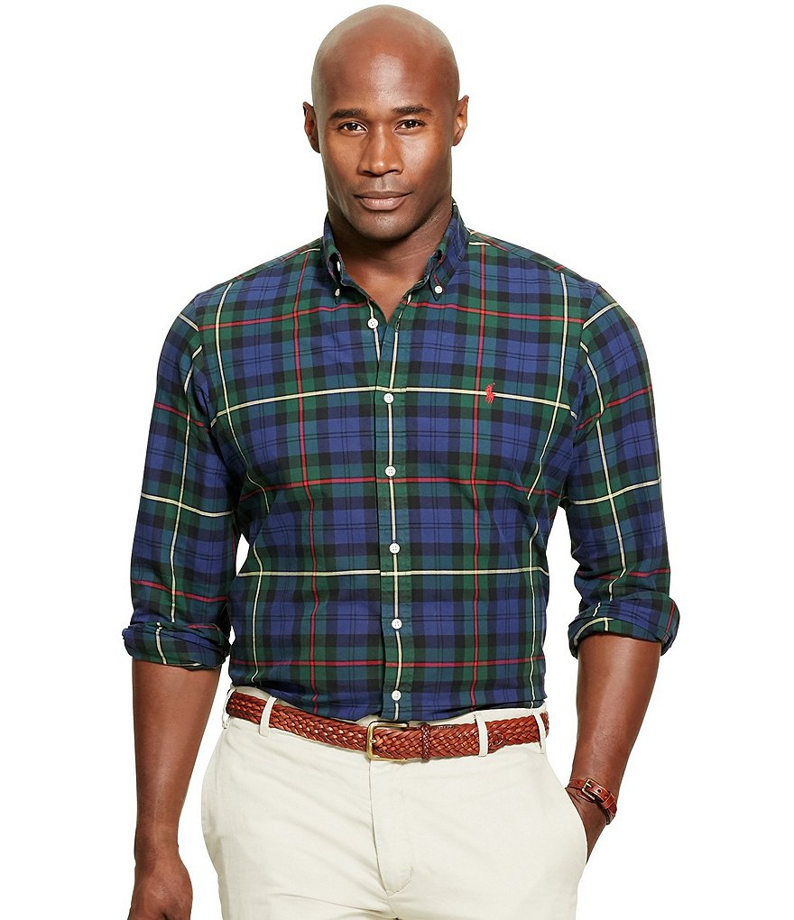 Polo Ralph Lauren Big & Tall Tartan Plaid Oxford Shirt