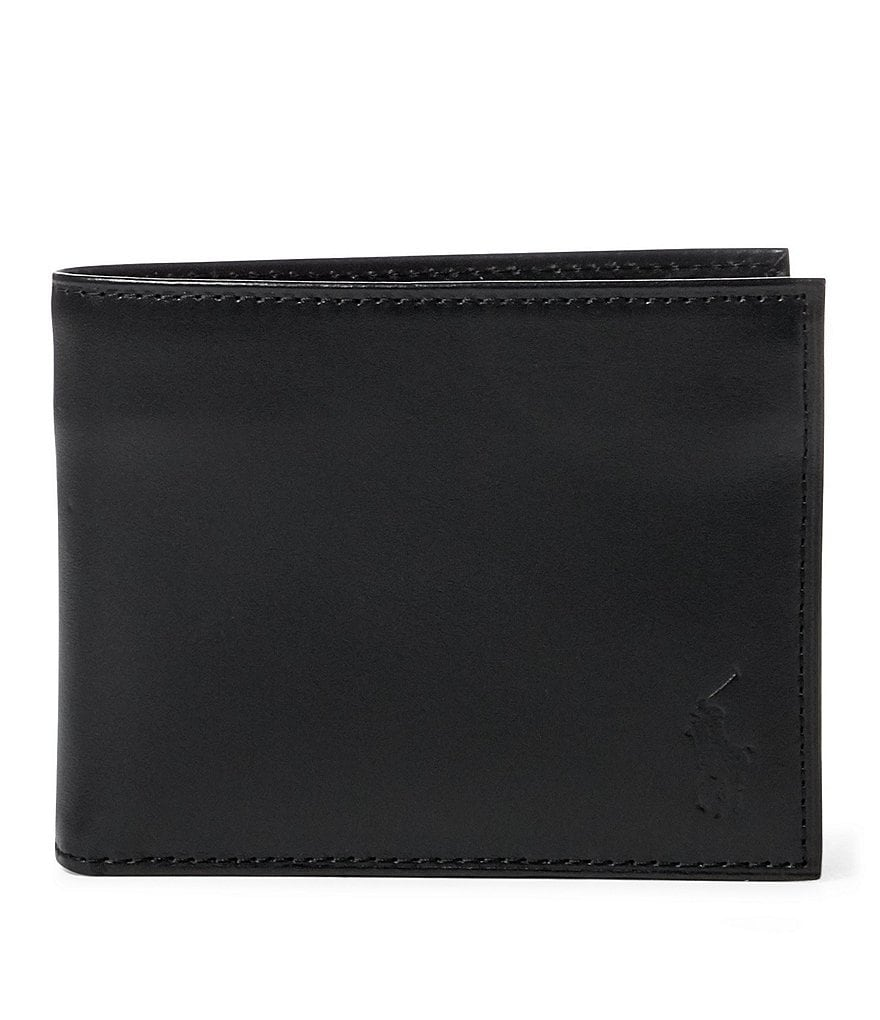 Polo Ralph Lauren Burnished Leather Flip ID Billfold