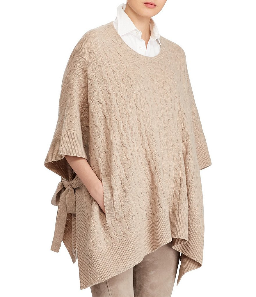Polo Ralph Lauren Cable Wool-Blend Poncho