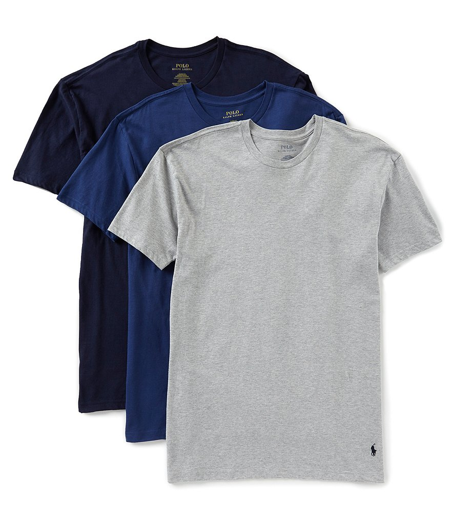 Polo Ralph Lauren Classic Fit Assorted Crewneck Tees 3-Pack   Dillard s 5f18fcff7ad4