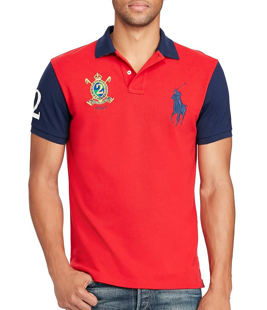 Polo Ralph Lauren Classic-Fit Color Block Big Pony Short-Sleeve Polo Shirt