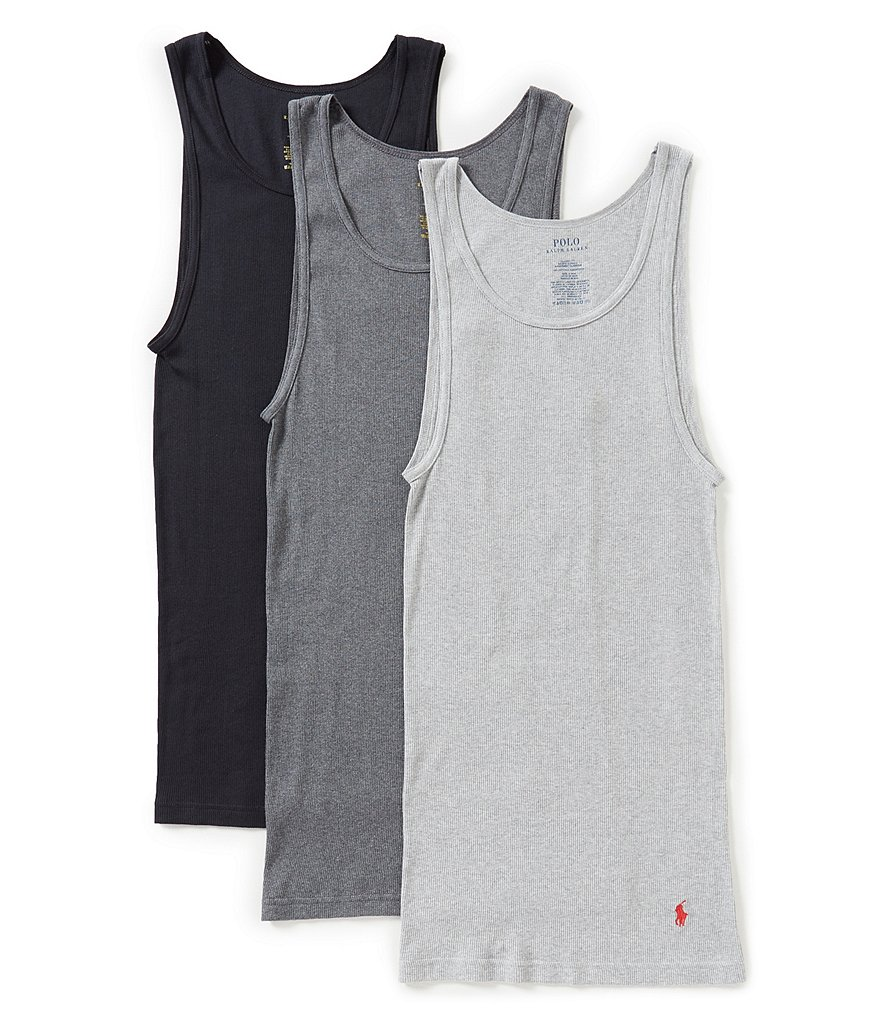 Polo Ralph Lauren Classic-Fit Cotton Rib Tanks 3-Pack