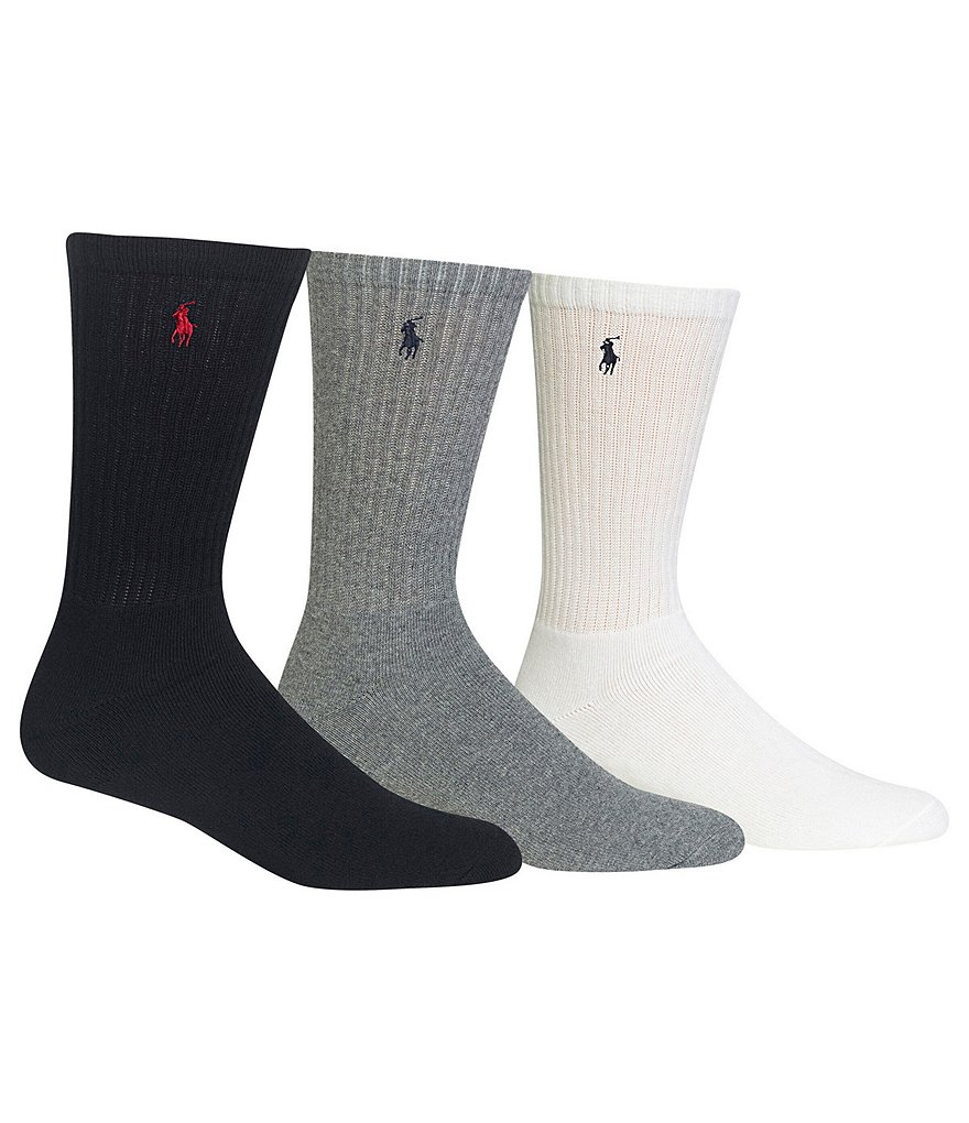 Polo Ralph Lauren Cotton-Blend Crew Socks 3-Pack