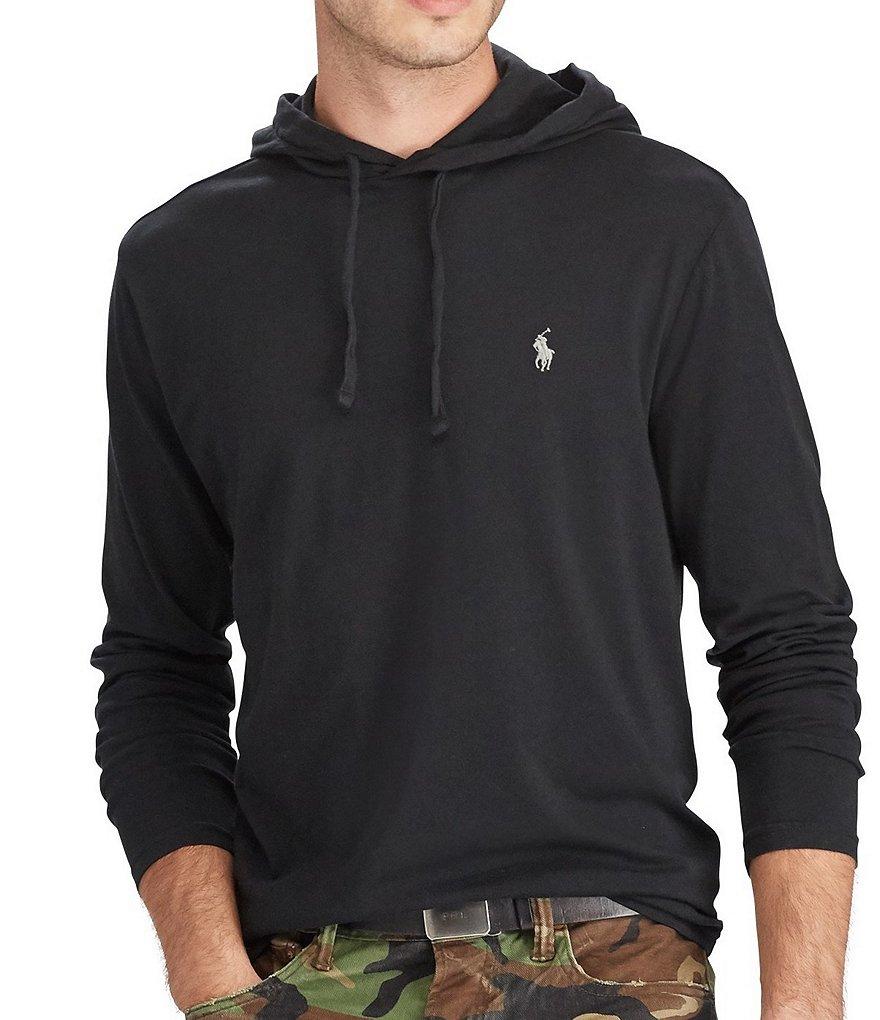 Polo Ralph Lauren Cotton Jersey Long Sleeve Hoodie Tee Dillards