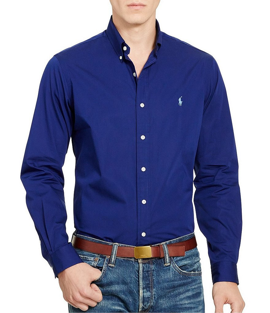 Polo Ralph Lauren Cotton Solid Poplin Shirt