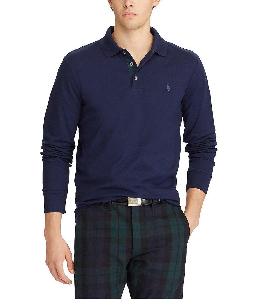Polo ralph lauren custom slim fit long sleeve polo shirt for Polo ralph lauren custom fit polo shirt