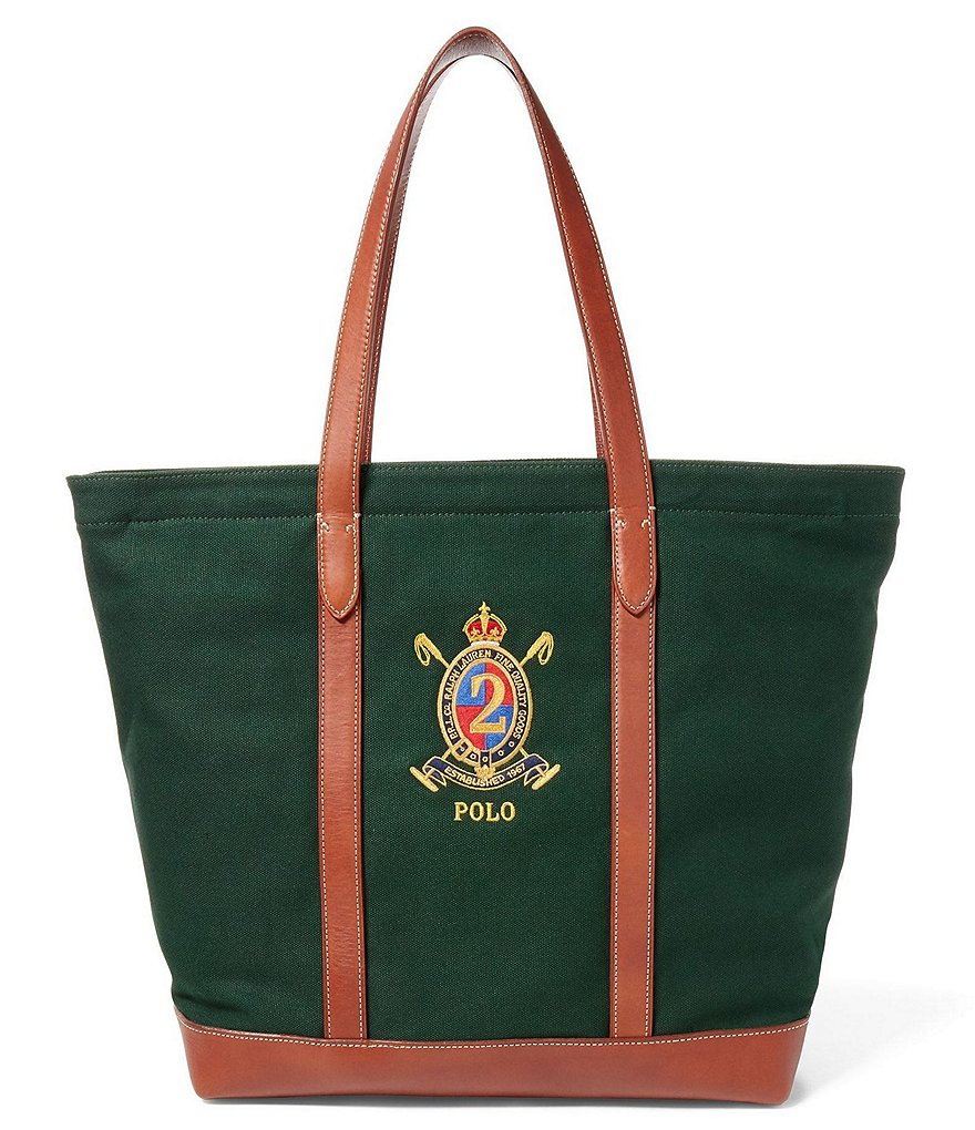 Polo Ralph Lauren Elevated Canvas and Leather Tote