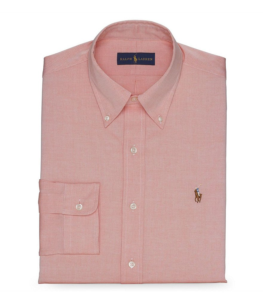 Polo Ralph Lauren Fitted Classic-Fit Solid Oxford Dress Shirt