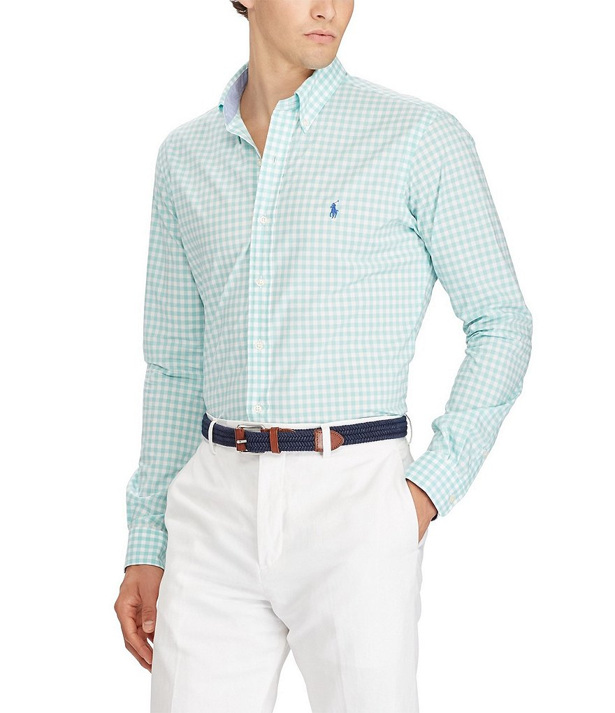Polo Ralph Lauren Gingham Stretch Poplin Long-Sleeve Woven Shirt
