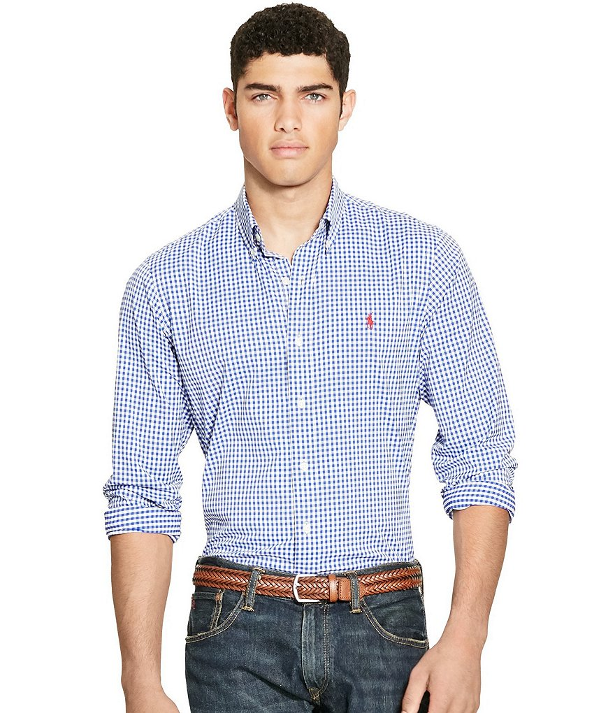 Polo Ralph Lauren Gingham Stretch Performance Shirt