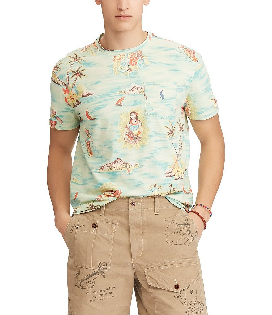 Polo Ralph Lauren Hawaiian Print Short-Sleeve Tee
