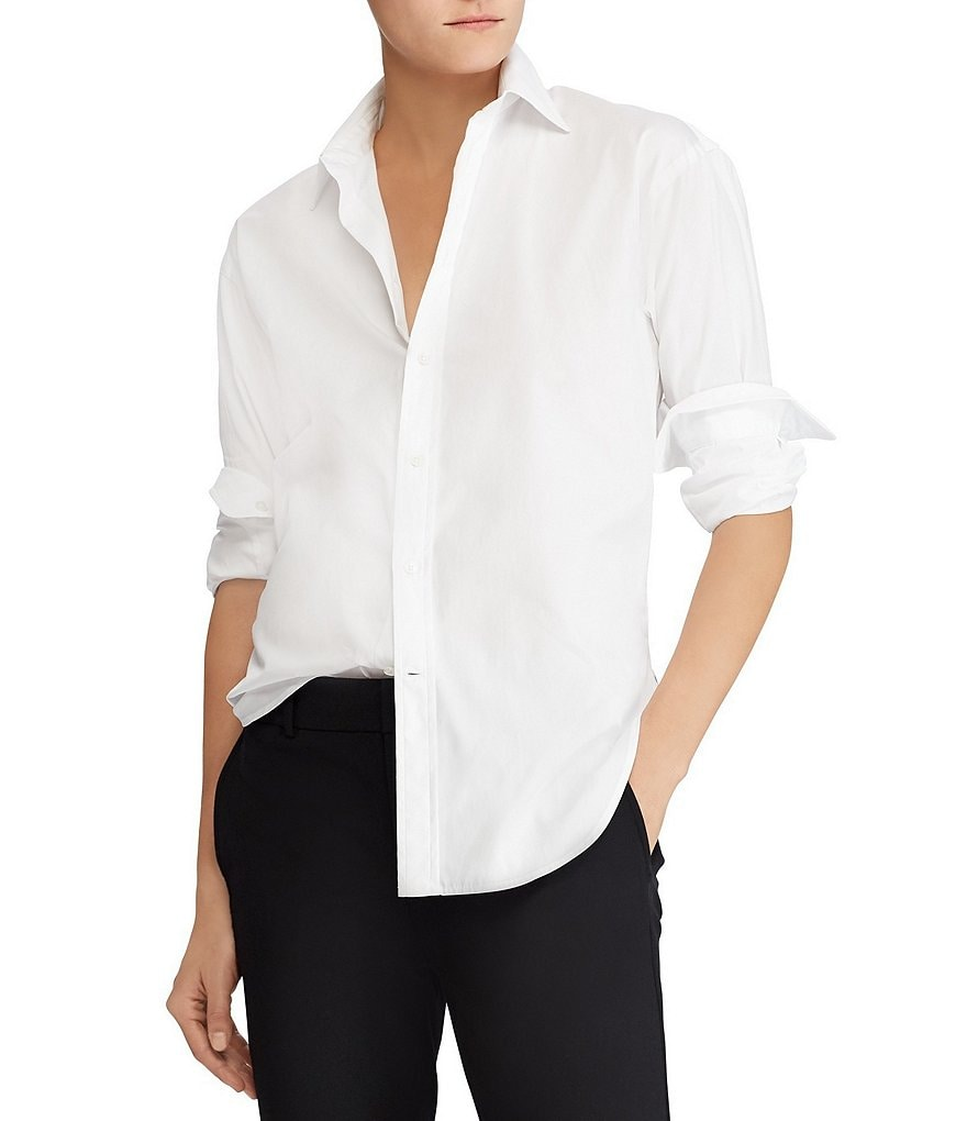 Polo Ralph Lauren Lace-Up Back Boyfriend Shirt