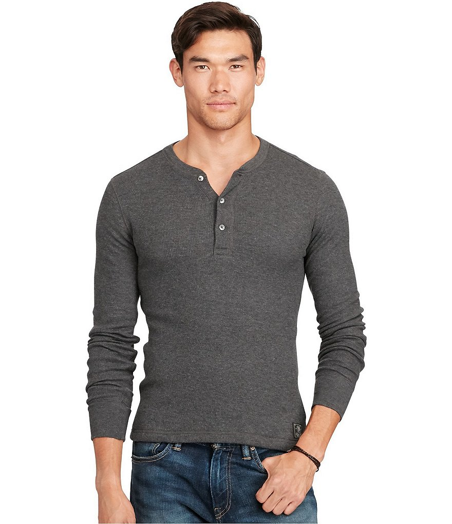 Polo Ralph Lauren Long-Sleeve Waffle-Knit Henley