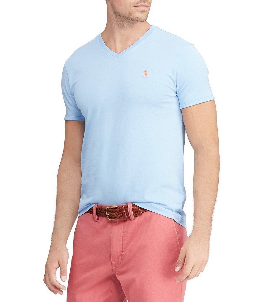 a3b6f589e ... ireland polo ralph lauren classic fit short sleeved cotton jersey v  neck tee dd974 5e93a