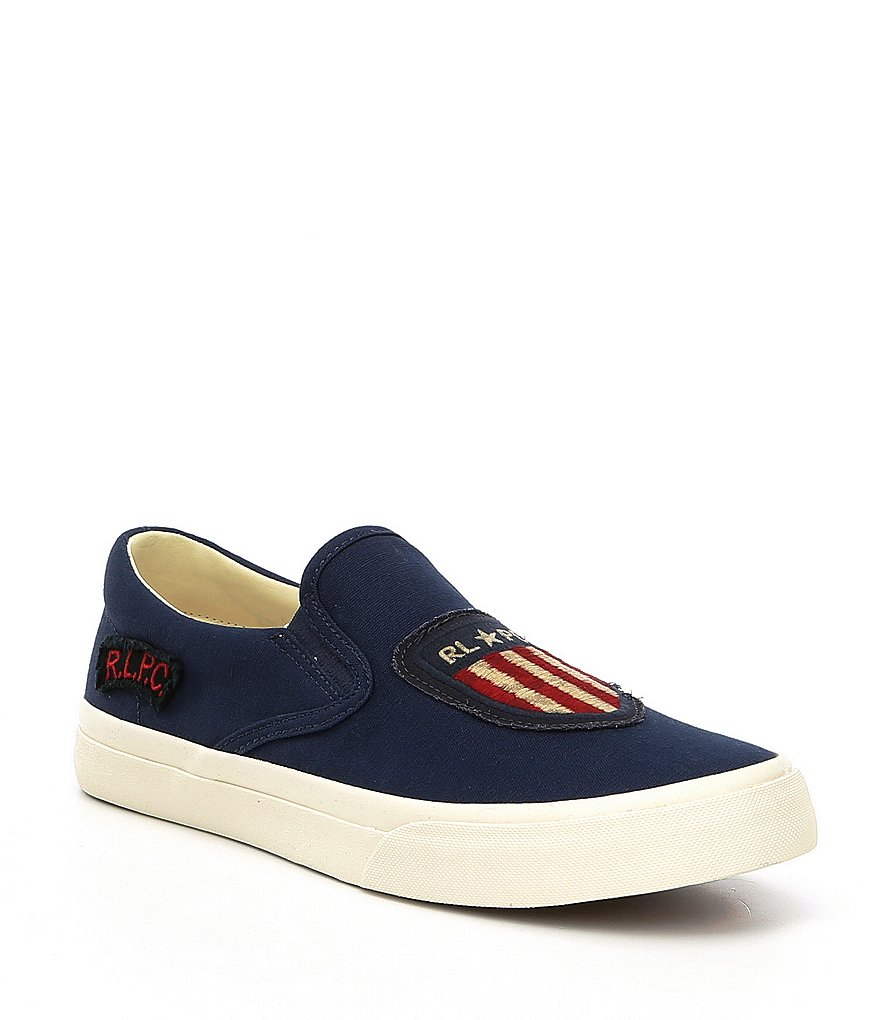 Polo Ralph Lauren Men's Thompson Printed Canvas Slip-On Sneakers