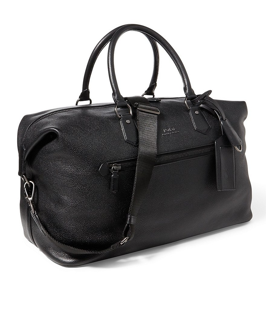 Polo Ralph Lauren Pebbled Leather Duffel Bag