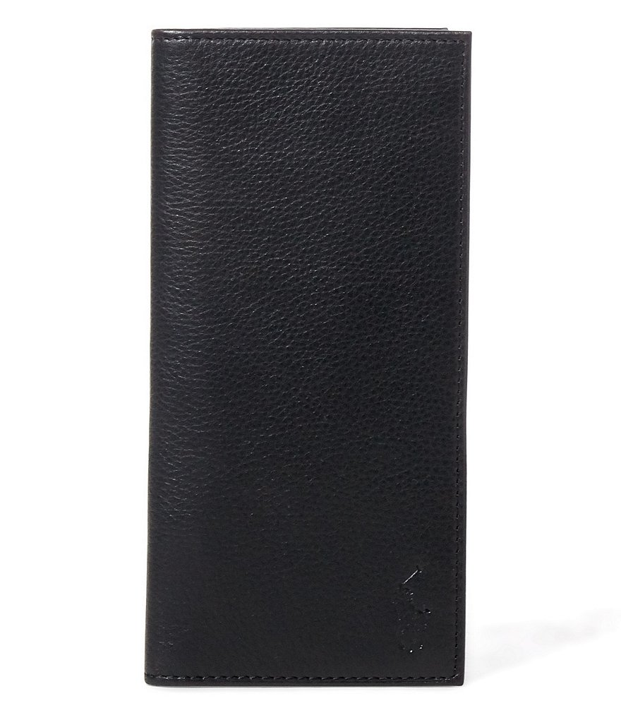 Polo Ralph Lauren Pebbled Leather Narrow Wallet
