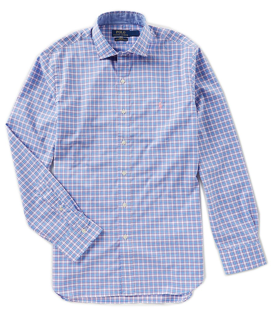 Polo Ralph Lauren Checked Plaid Long-Sleeve Woven Shirt