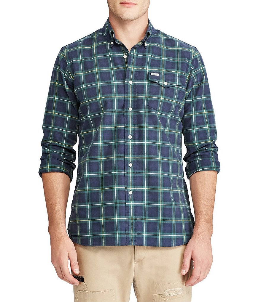 Polo Ralph Lauren Shadow Plaid Oxford Long-Sleeve Woven Shirt