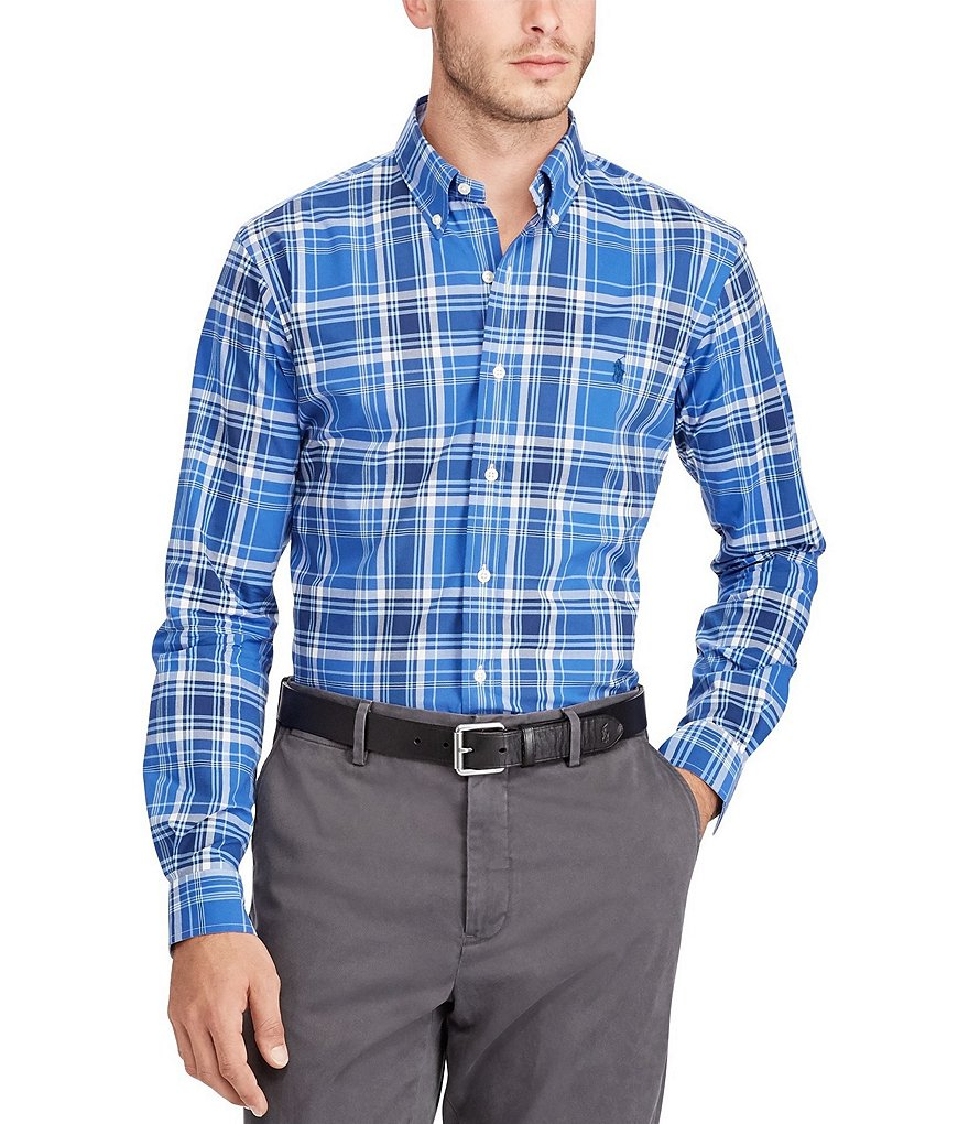 Polo Ralph Lauren Madras Plaid Poplin Long-Sleeve Woven Shirt