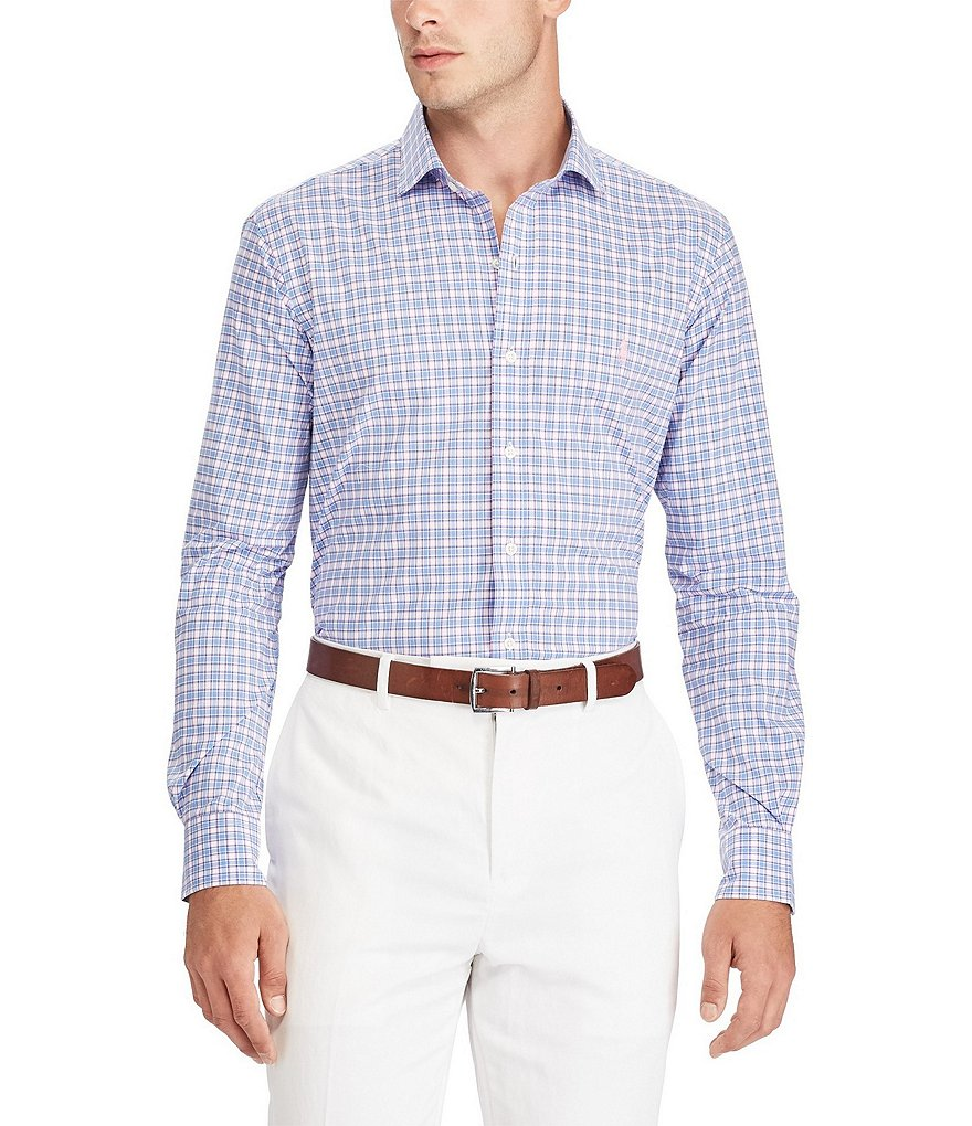 Polo Ralph Lauren Check Plaid Poplin Long-Sleeve Woven Shirt