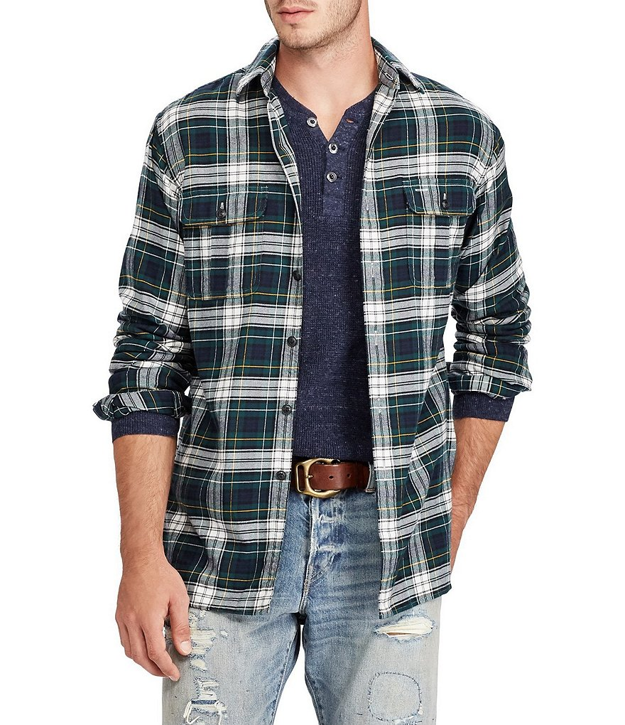 Polo Ralph Lauren Plaid Standard-Fit Long-Sleeve Woven Shirt