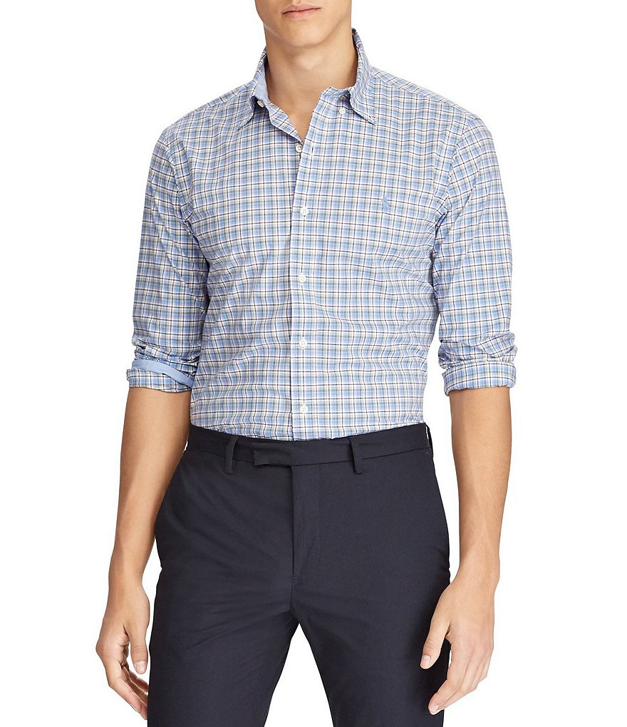 Polo Ralph Lauren Poplin Plaid Long-Sleeve Woven Shirt