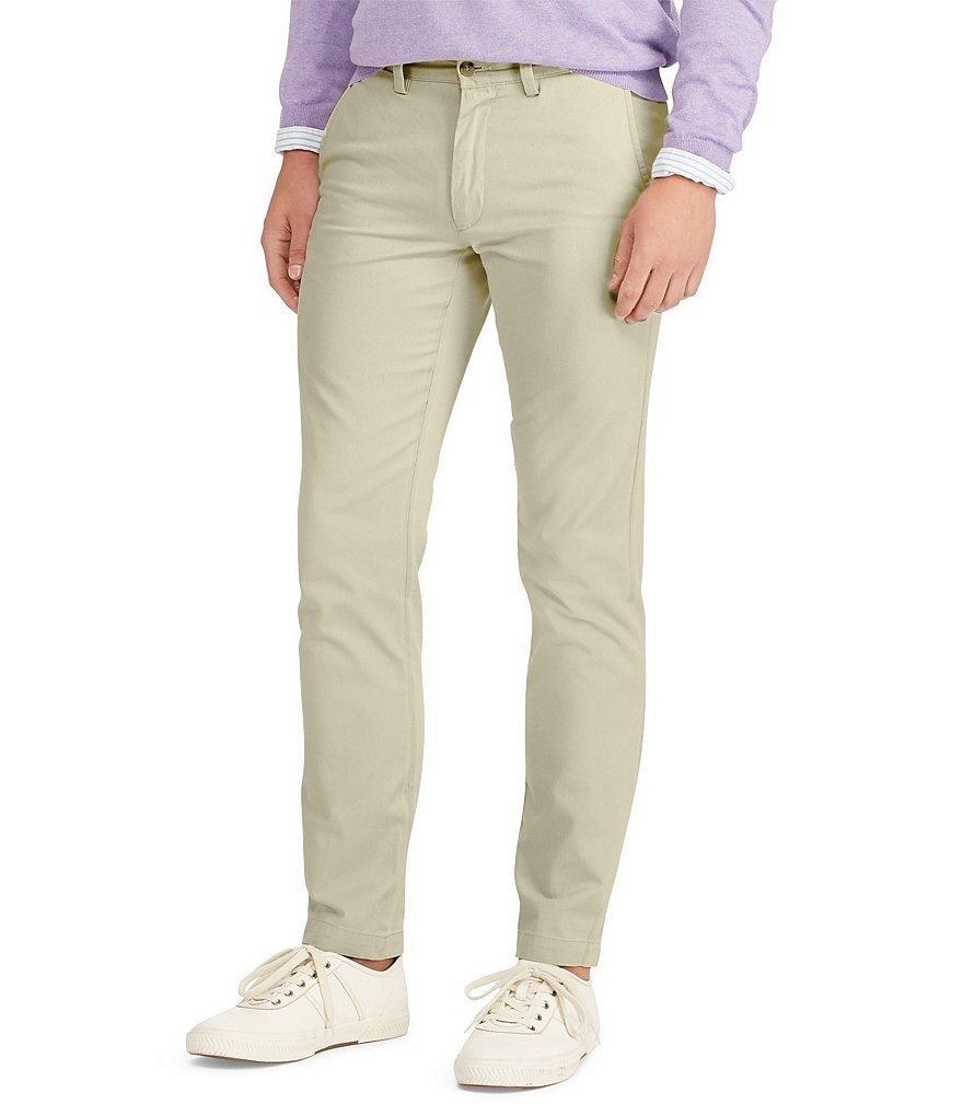 catch innovative design official store Polo Ralph Lauren Slim-Fit Flat-Front Chino Pants