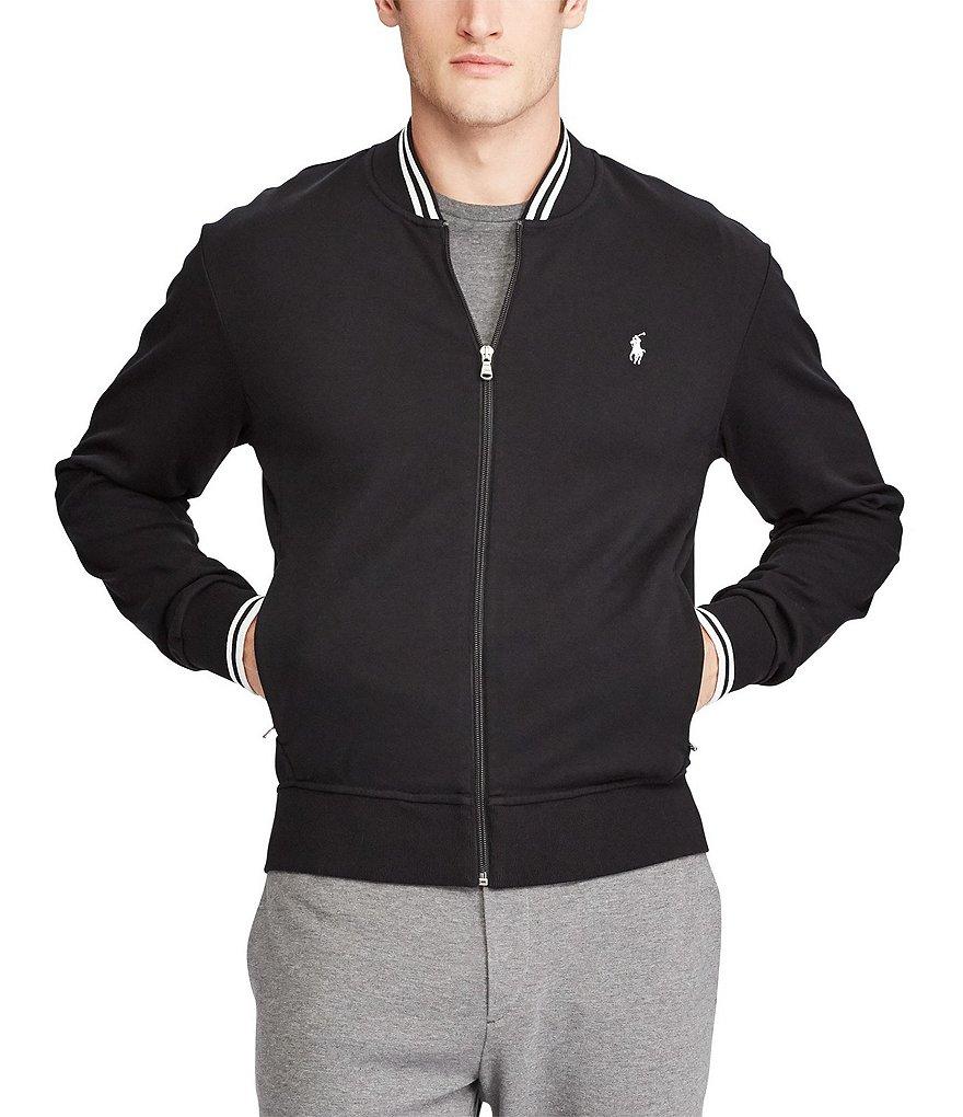 polo ralph lauren solid full zip bomber jacket dillards. Black Bedroom Furniture Sets. Home Design Ideas