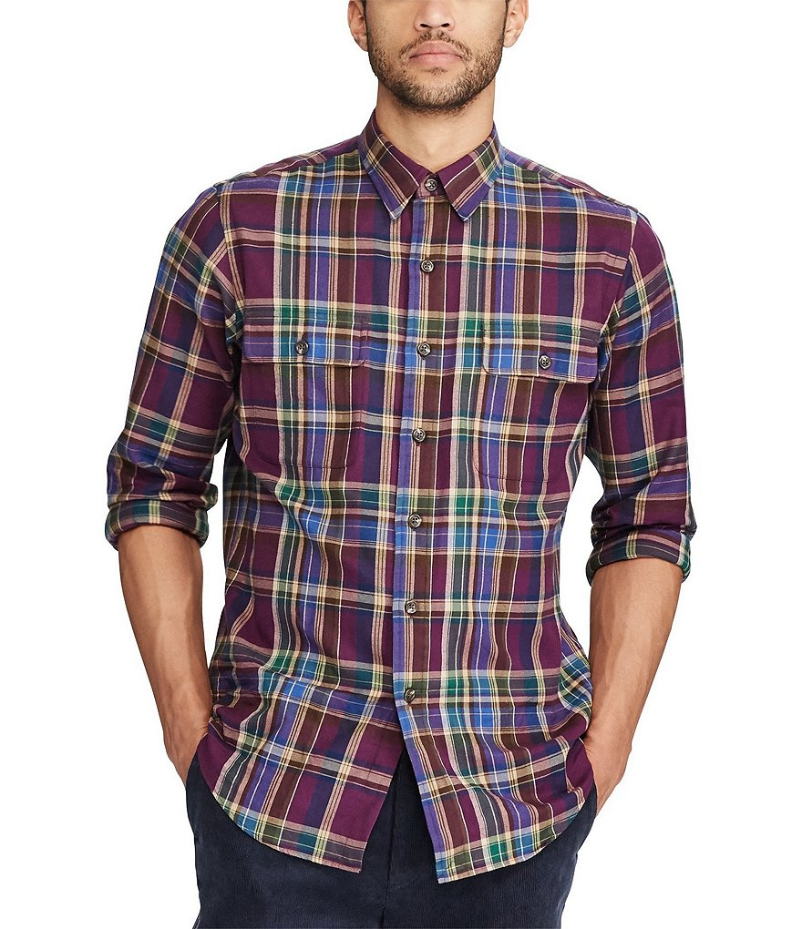 Polo Ralph Lauren Standard-Fit Glen Plaid Long-Sleeve Woven Shirt