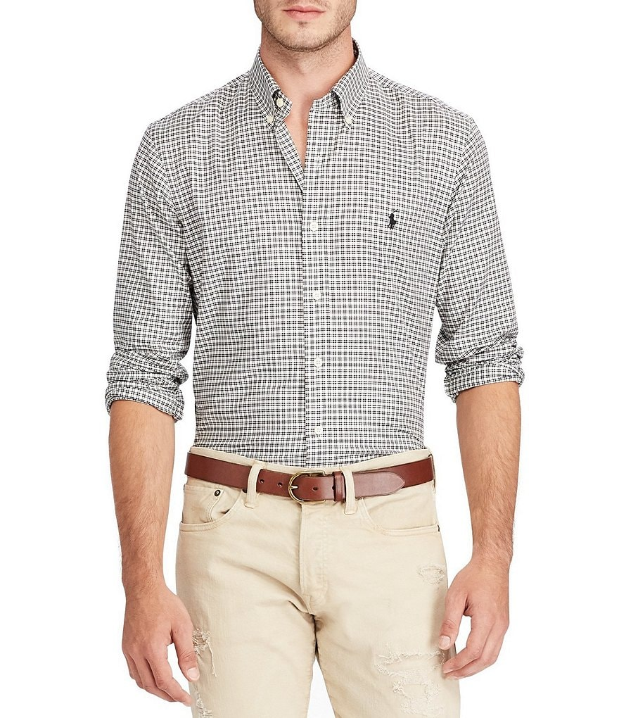 Polo Ralph Lauren Tattersall Long-Sleeve Woven Shirt