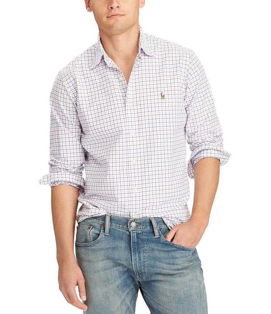 Polo Ralph Lauren Tattersall Poplin Long-Sleeve Woven Shirt