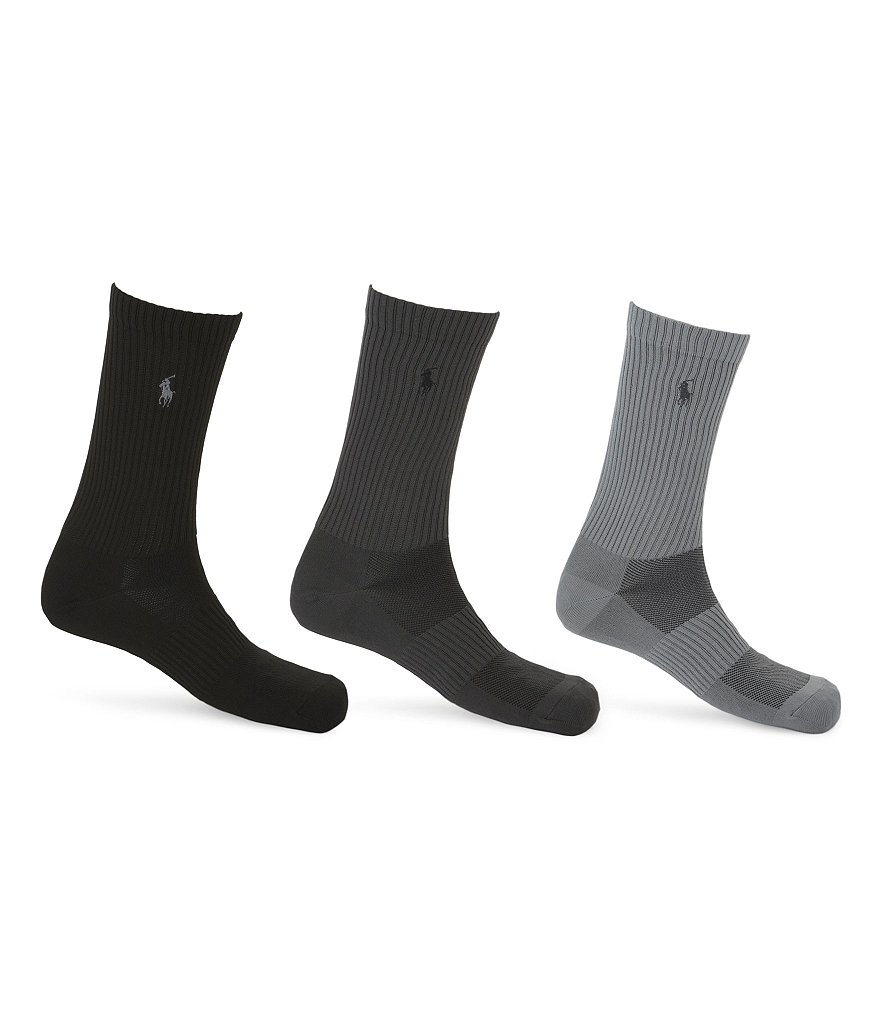 Polo Ralph Lauren Technical Casual Crew Socks 3-Pack