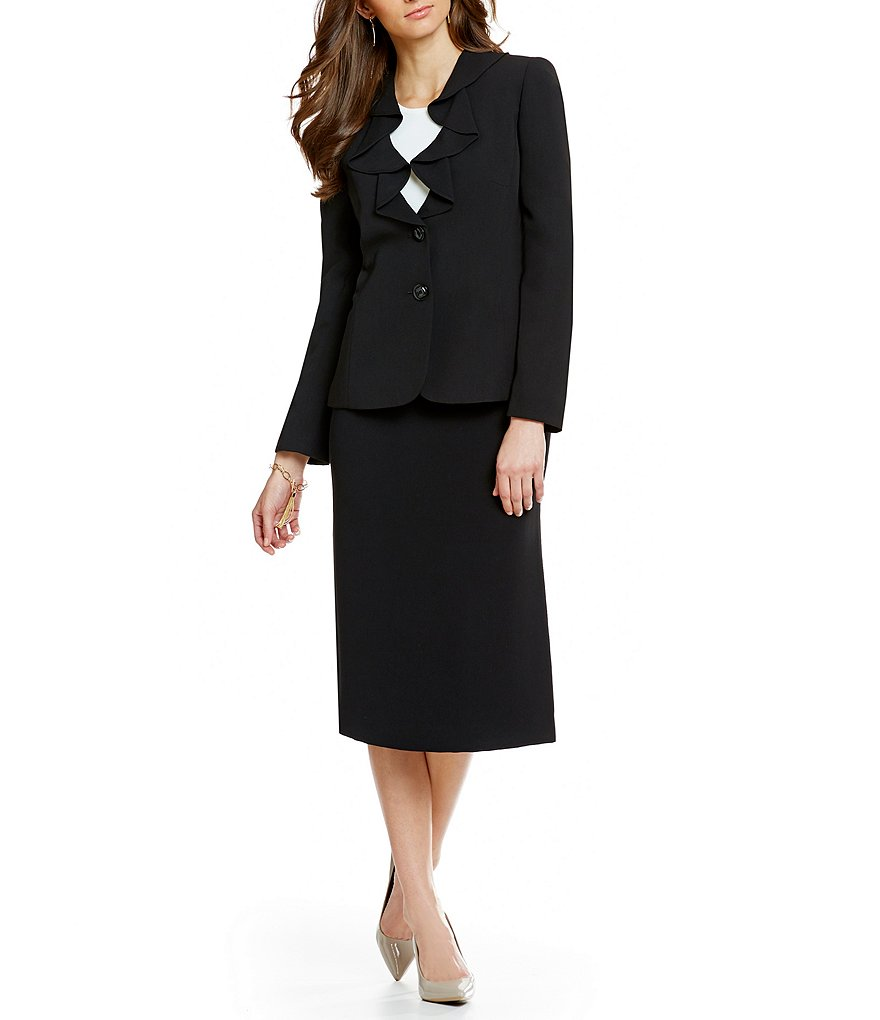 Preston & York Crepe Suiting Julie Jacket & Taylor Pencil Skirt