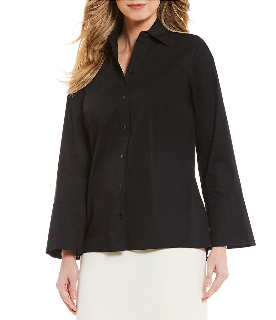 Preston & York Eloise button-Up Poplin Blouse