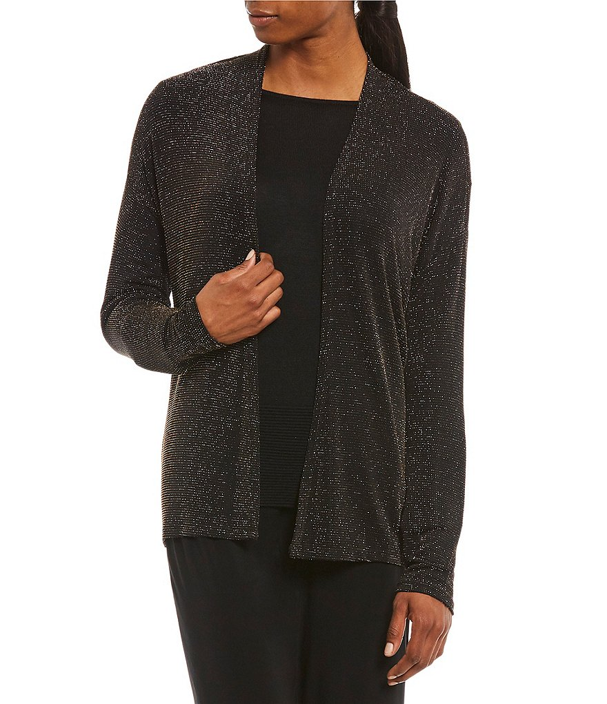 Preston & York Haley Metallic Jersey Cardigan