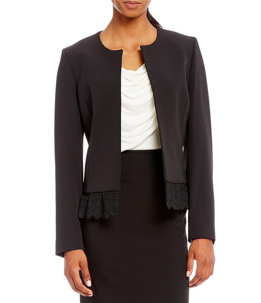 Preston & York Lucie Crochet Trim Jacket