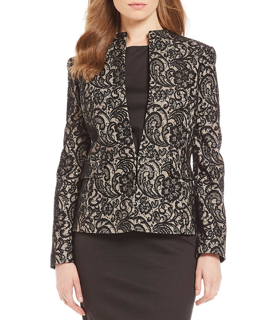 Preston & York Paige Bonded Sequin Lace Jacket