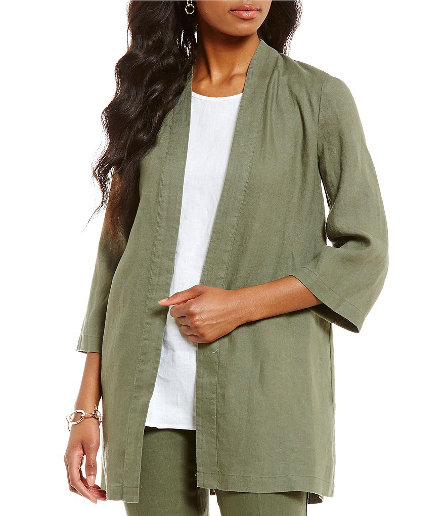 Preston & York Rayna Open Front Linen Jacket