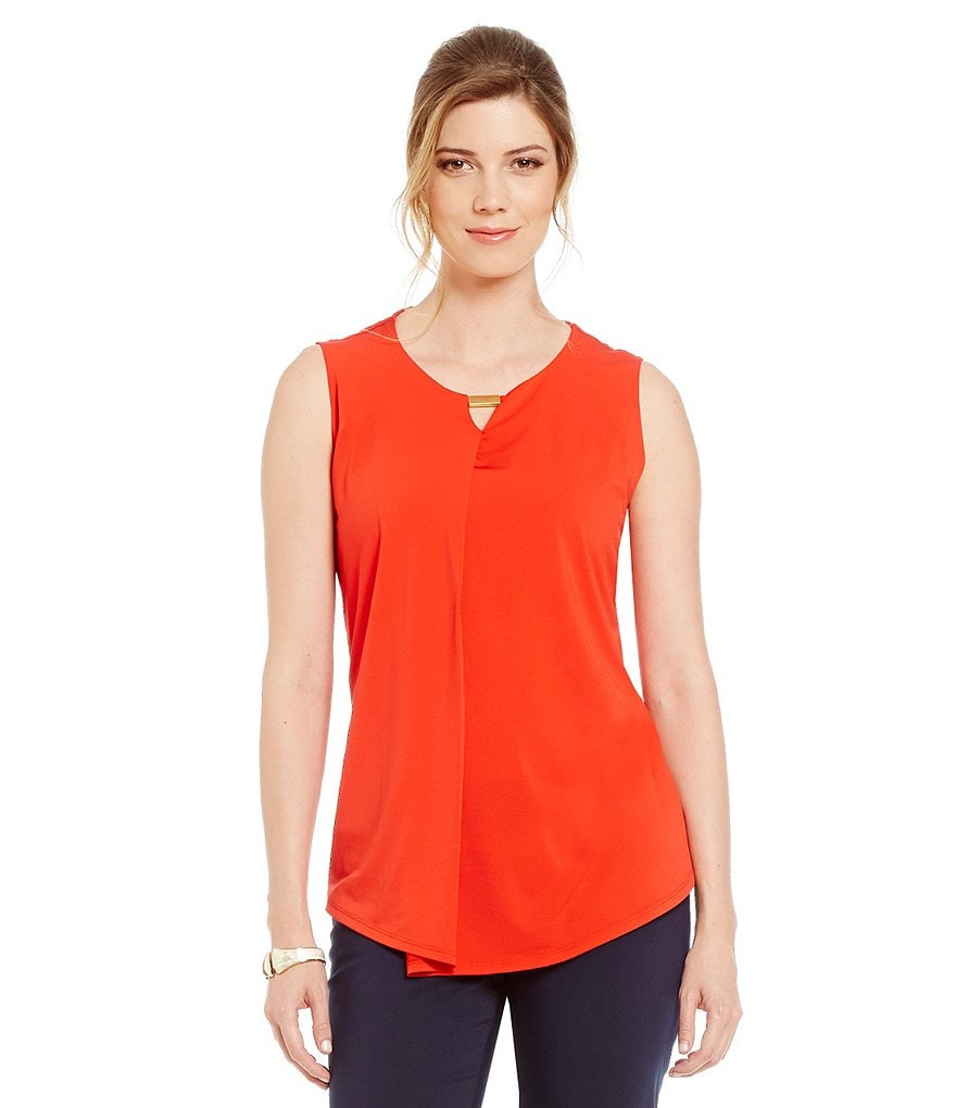 Preston & York Star Knit Bar-Neck Blouse