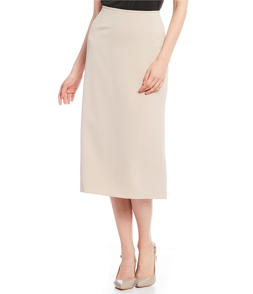Preston & York Taylor Textures Stretch Crepe Suiting Skirt
