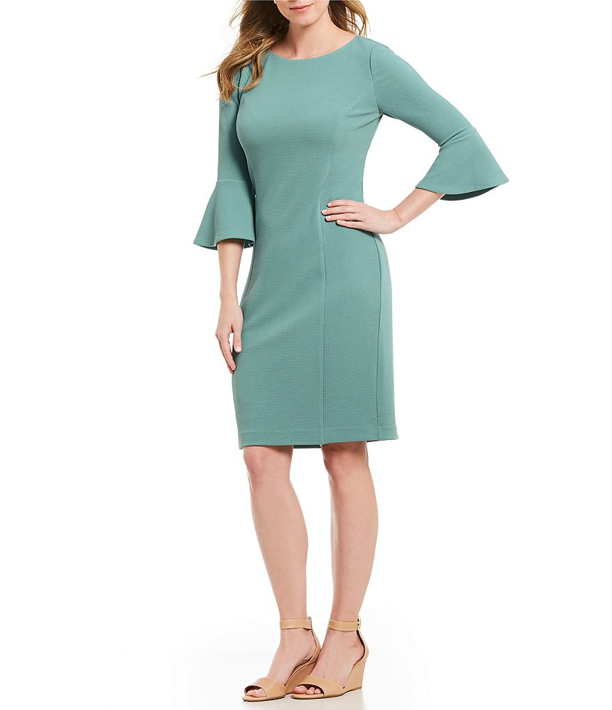 Preston & York Wynne Knit Bell Sleeve Sheath Dress