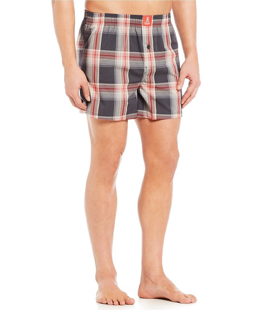 Psycho Bunny Plaid Woven Boxers