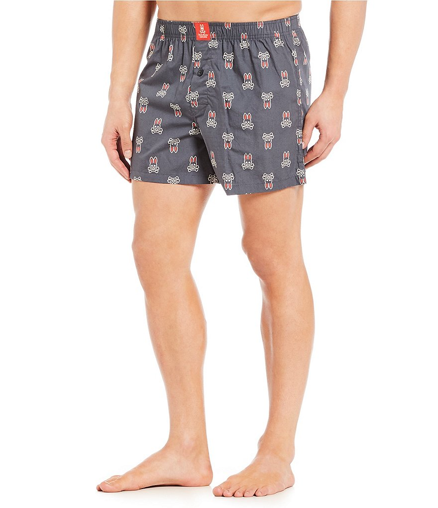 Psycho Bunny Printed Woven Boxers