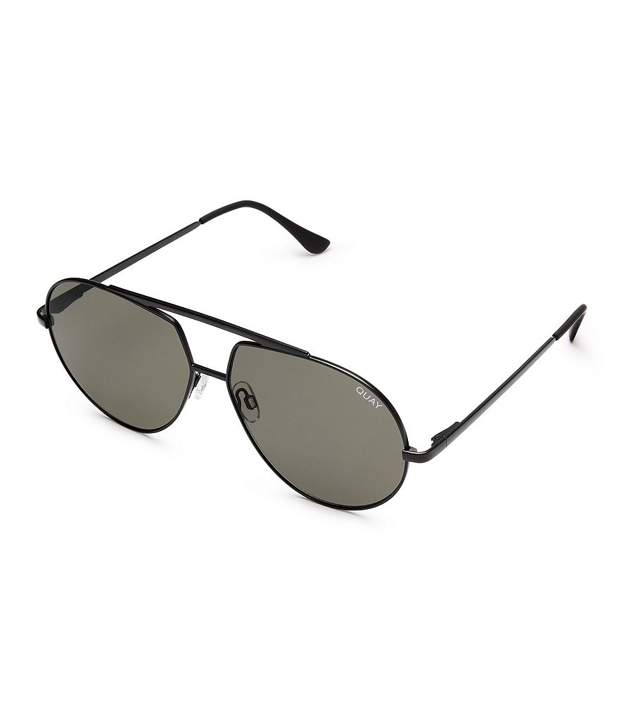 Quay Australia Blaze Double Bridge Aviator Sunglasses