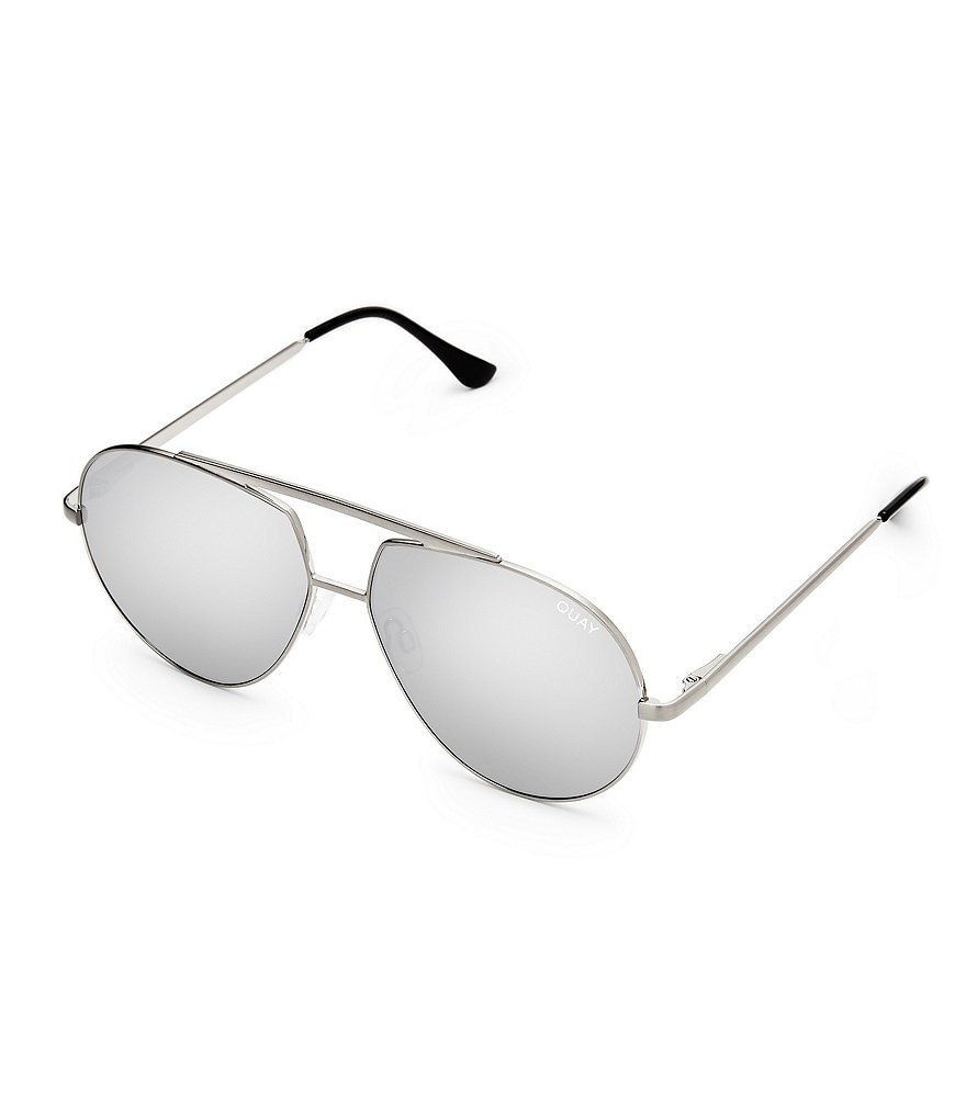 Quay Australia Blaze Double Bridge Flash/Mirror Aviator Sunglasses