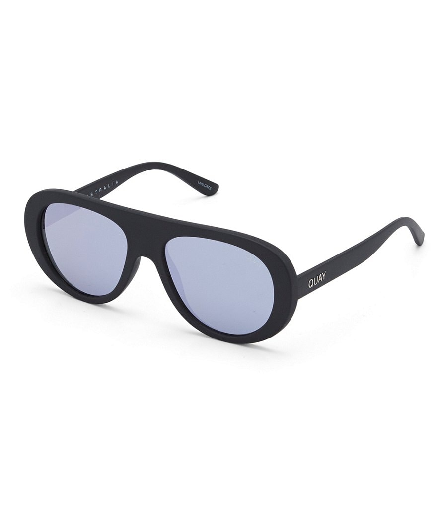 Quay Australia Bold Move Mirrored Shield Sunglasses